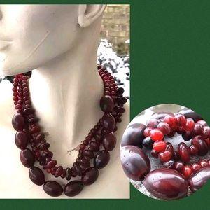 Gerda Lynggaard Denmark Monies Necklace Red Amber